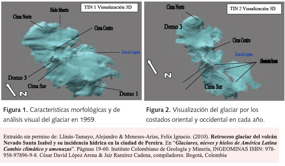 Reconstrucción Digital del casquete glacial del Nevado de Santa Isabel entre 1959 y 1995